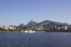 Vue de la baie de Guanabara - navigation olympique Photos stock