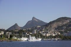 Vue de la baie de Guanabara - navigation olympique Images libres de droits