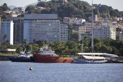 Vue de la baie de Guanabara - navigation olympique Photographie stock