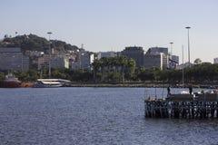 Vue de la baie de Guanabara - navigation olympique Image stock
