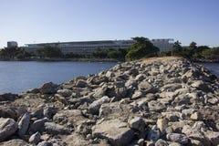 Vue de la baie de Guanabara - navigation olympique Images stock