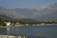 Vue de la baie de Kemer Photographie stock libre de droits