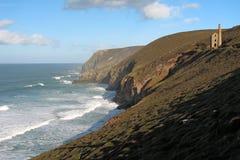 Vue de la côte cornouaillaise Images libres de droits