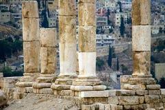 Vue de la capitale Amman. La Jordanie. Image libre de droits