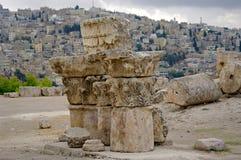 Vue de la capitale Amman. La Jordanie. Images stock