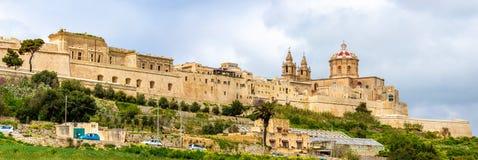 Vue de la cathédrale de St Paul dans Mdina photo libre de droits