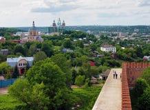 Vue de la cathédrale de supposition à Smolensk Photo libre de droits