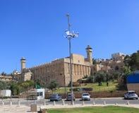 Vue de la caverne des patriarches dans Hebron Photo stock