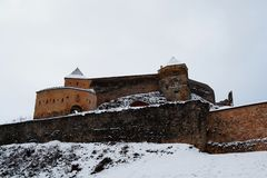 Vue de la citadelle de Rasnov photos libres de droits