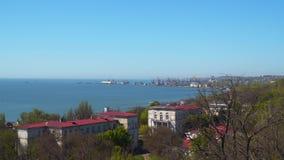 Vue de la colline au port maritime Photos libres de droits