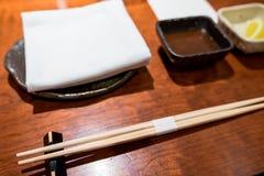 Vue de la configuration de place de dîner Photo libre de droits