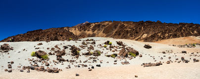 Vue de la crête de volcan de Teide photographie stock libre de droits