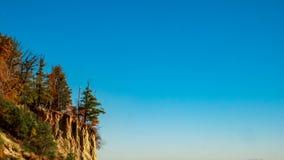 Vue de la falaise à Gdynia, Pologne images stock