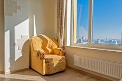 Vue de la fenêtre du gratte-ciel Image stock