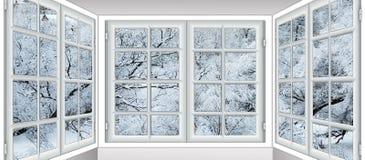 Vue de la fenêtre sur image stock
