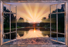 Vue de la fenêtre sur Images stock
