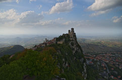 Vue de la forteresse de Guaita Photo libre de droits