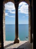 Vue de la forteresse Genoese (Sudak, Ukraine) Photo stock