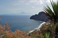 Vue de La Gomera vers Tenerife Photos libres de droits
