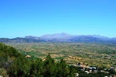 Vue de la Grèce, Crète d'île de panorama de support Image libre de droits