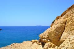 Vue de la Grèce, Crète d'île de panorama de support Photos stock