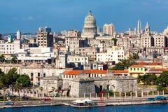 Vue de La Havane comportant plusieurs points de repère Photos libres de droits