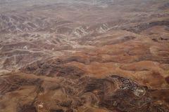 Vue de la Jordanie de l'avion Paysage Désert photos libres de droits