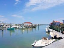 Vue de la marina du sud de débardeur, un port de bateau situé dans Cape May, New Jersey Image libre de droits