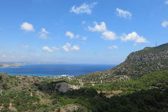 Vue de la mer, île de Kos Image libre de droits