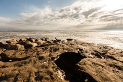 Vue de la mer congelée photos stock