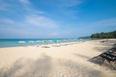 Vue de la mer d'Andaman du point de visionnement, Phuket Image libre de droits