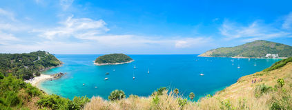 Vue de la mer d'Andaman du point de visionnement, Phuket Photos stock