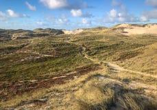 Vue de la Mer du Nord Montagnes de sable des dunes Soendervig denmark images stock