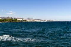 Vue de la mer Méditerranée, Marbella, Espagne Photos libres de droits