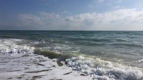 Vue de la Mer Noire du rivage banque de vidéos
