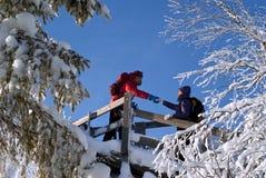 Vue de la montagne à la neige au-dessus de la plaine image libre de droits