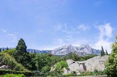 Vue de la montagne d'AI-Pétri du palais de Vorontsov Photo libre de droits