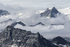 Vue de la montagne de Kitzsteinhorn images libres de droits