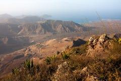 Vue de la montagne de Monte Verde près de Mindelo Images libres de droits