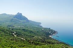 Vue de la montagne et de la mer d'une taille Image libre de droits