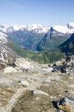 Vue de la Norvège, fjord de Geiranger Images stock