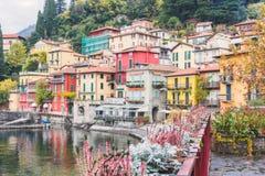 Vue de la petite ville de Varenna Photo stock