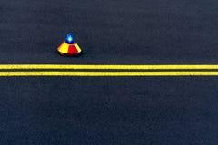 Vue de la piste avec un signal lumineux photos stock