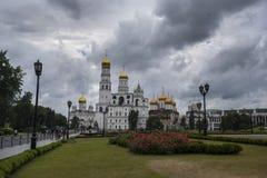 Vue de la place de cathédrale, le Kremlin, Moscou, Russie images stock