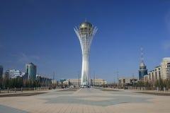 Vue de la place centrale d'Astana Photographie stock libre de droits