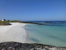 Vue de la plage de Caolas, île de Tiree Image libre de droits