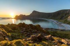 Vue de la plage de la montagne Photo stock