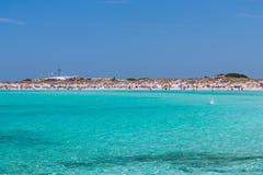 Vue de la plage de l'île de Formentera image stock