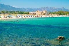 Vue de la plage de Nora, Sardaigne photo libre de droits