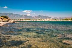 Vue de la plage de Nora, Sardaigne image libre de droits